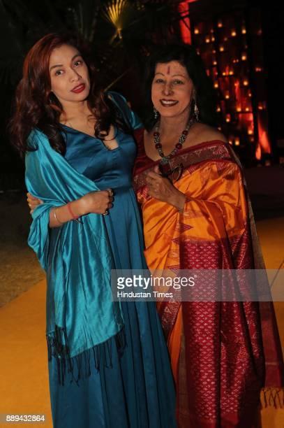 Sanjana Jon and Shovana Narayan during a Gala evening showcasing fusion of Indian International Culture at Nandiya Garden Hotel ITC Maurya on...