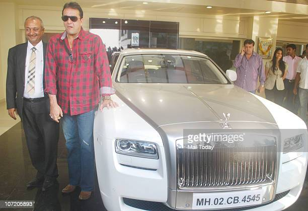 Sanjay Dutt at an event where he gifted a Rolls Royce 'Ghost' model car to his wife on November 29 2010 in Mumbai after she gave birth to twins