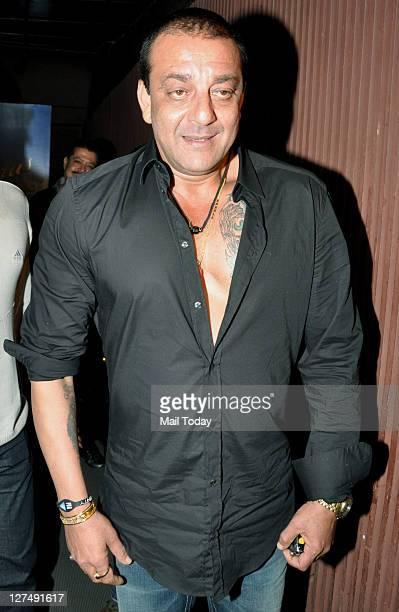 Sanjay Dutt at Ranbir Kapoor's birthday bash at Aurus Mumbai on September 27 2011