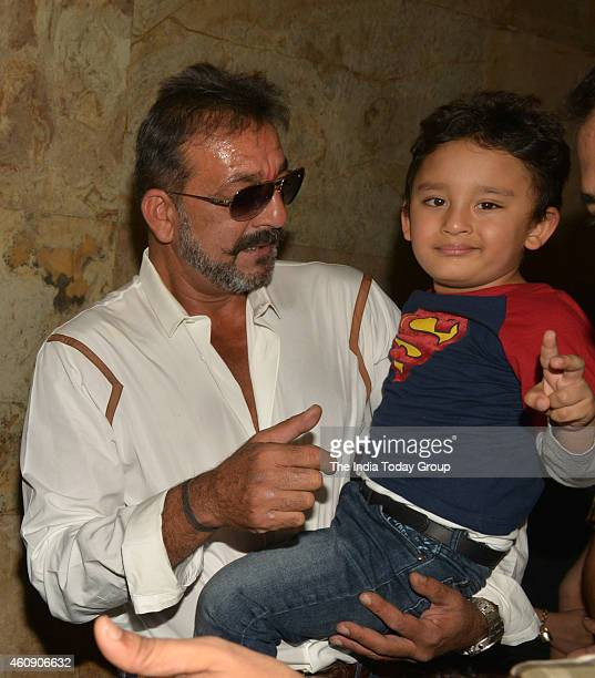 Sanjay Dutt at the special screening of film PK in Mumbai