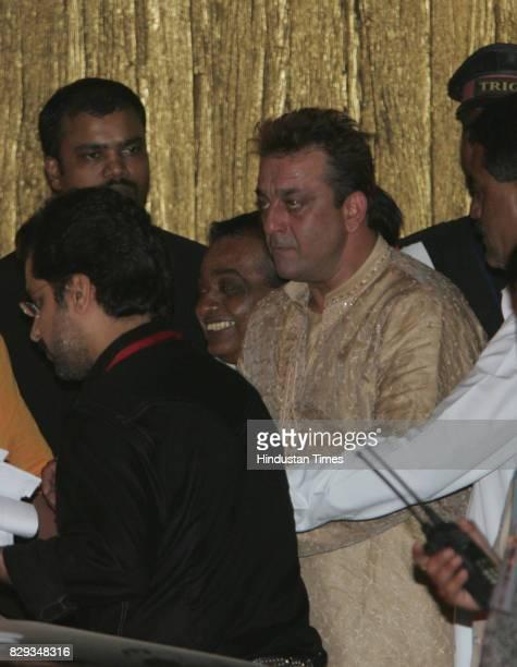 Sanjay Dutt at the wedding of Aishwarya and Abhishek Bachchan