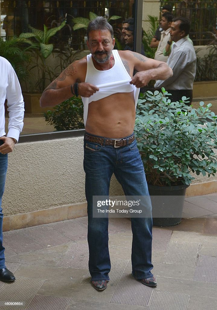 <a gi-track='captionPersonalityLinkClicked' href=/galleries/search?phrase=Sanjay+Dutt&family=editorial&specificpeople=1541020 ng-click='$event.stopPropagation()'>Sanjay Dutt</a> out of jail on a two weeks furlough in Mumbai.