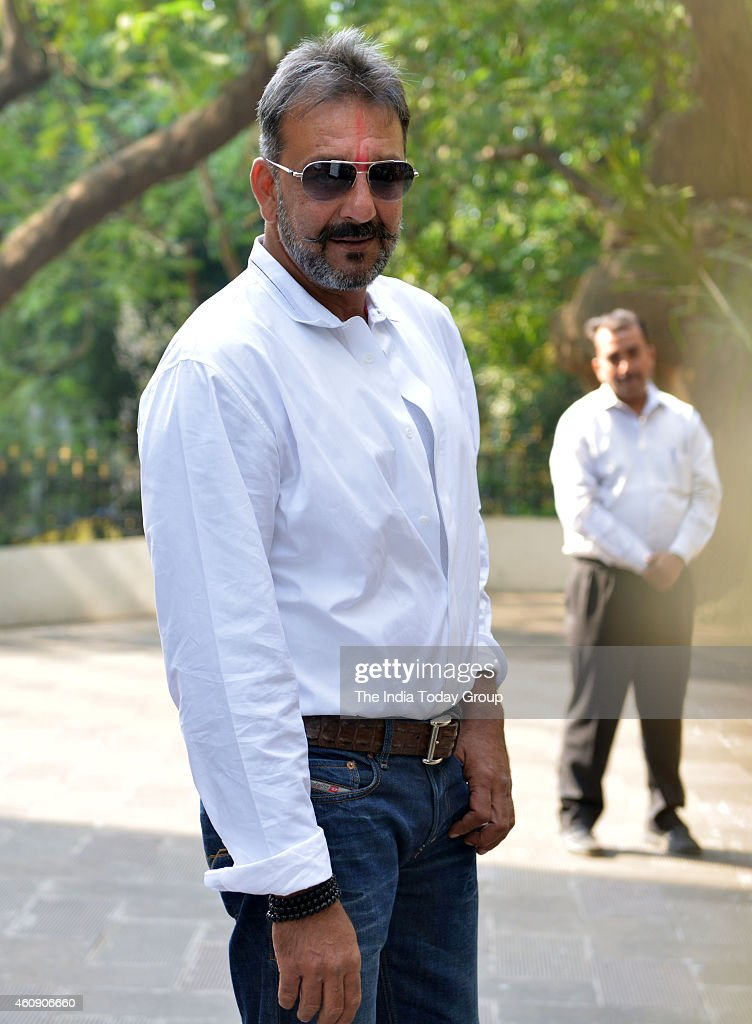 Sanjay Dutt out of jail on a two weeks furlough in Mumbai.