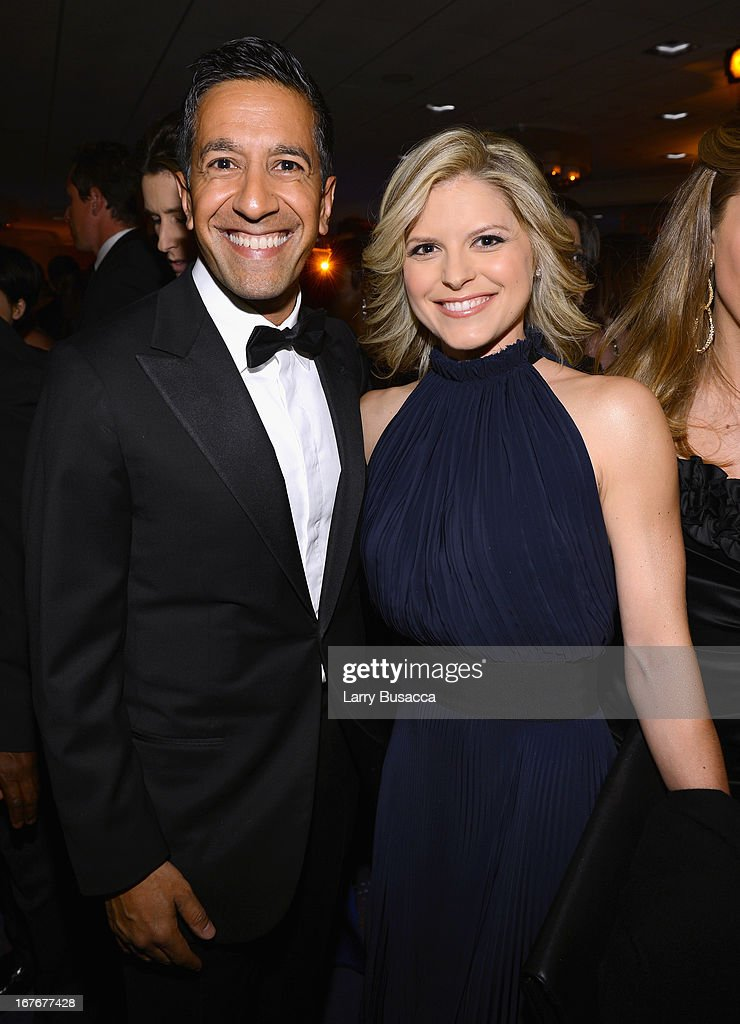 Sanjay Gupta and Kate Bolduan attend the TIME/CNN/PEOPLE/FORTUNE Pre-Dinner Cocktail Reception at Washington Hilton on April 27, 2013 in Washington, DC.