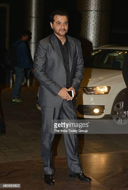 Sanjay Kapoor at the wedding reception of Shahid Kapur and Mira Rajput in Mumbai