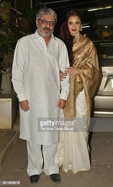 Sanjay Leela Bhansali and Rekha at the Special Screening of Bajirao Mastani in Mumbai