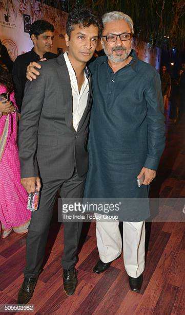 Sanjay Leela Bhansali at Vikram Phadniss 25th anniversary fashion show in Mumbai