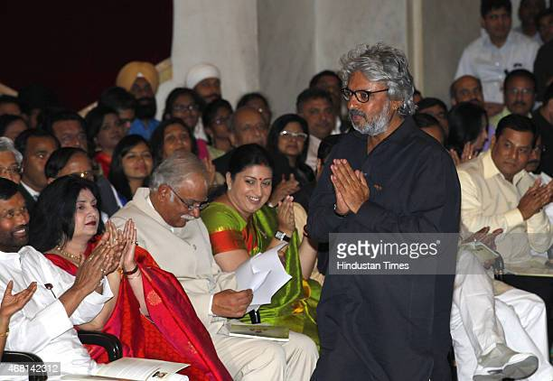 Sanjay Leela Bhansali before receiving Padma Shri award from President Pranab Mukherjee during a Civil Investiture Ceremony at Rashtrapati Bhavan on...