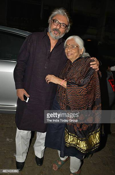Sanjay Leela Bhansali with his mother Leela Bhansali at his Padma Shri honour celebrations in Mumbai