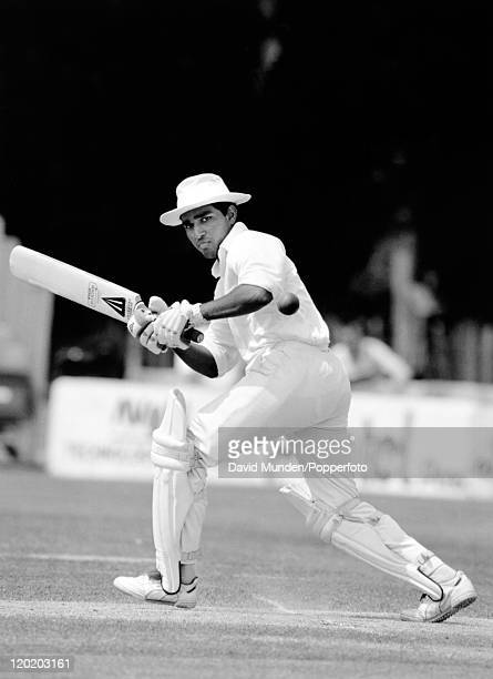 Sanjay Manjrekar batting for India circa 1990