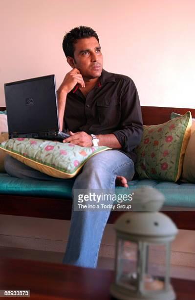 Sanjay Manjrekar exCricketer turned television commentator in Mumbai Maharashtra India
