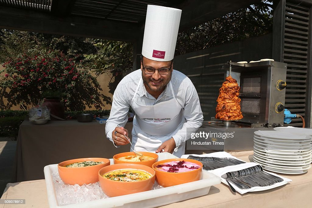Sanjay Modi, Managing Director, MonsterIndia.com, during the 12th edition of Genesis Foundation's fund raiser, 'CEOs Cook For GF Kids' to support better life for underprivileged kids, top corporate honchos got together to raise funds through a charity cooking session, on February 6, 2016 in Gurgaon, India. The attendees booked tables and sampled the delicious fare served by the CEO-turned-chefs.