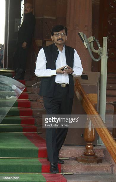 Sanjay Rawat leader from Shiv Sena and MP after attending parliament winter session at Parliament House on December 13 2012 in New Delhi India Upper...