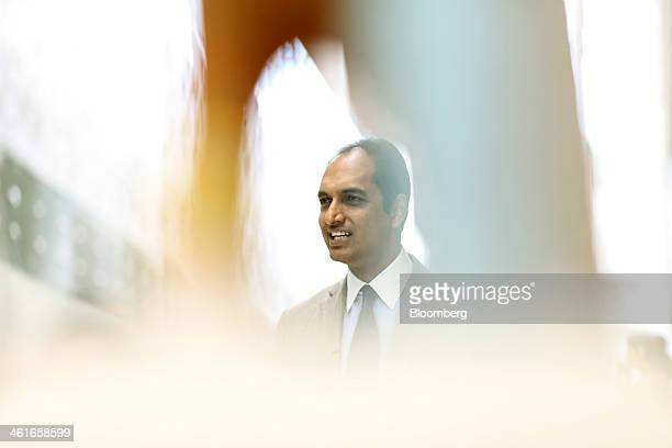 GV Sanjay Reddy vice chairman of GVK Power Infrastructure Ltd and managing director of Mumbai International Airport Pvt Ltd speaks during an...