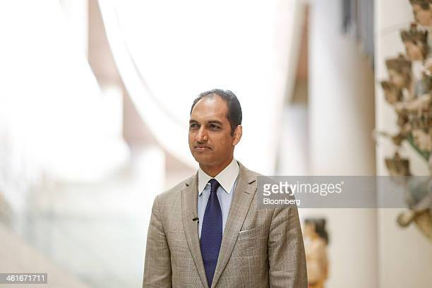 GV Sanjay Reddy vice chairman of GVK Power Infrastructure Ltd and managing director of Mumbai International Airport Pvt Ltd pauses during an...