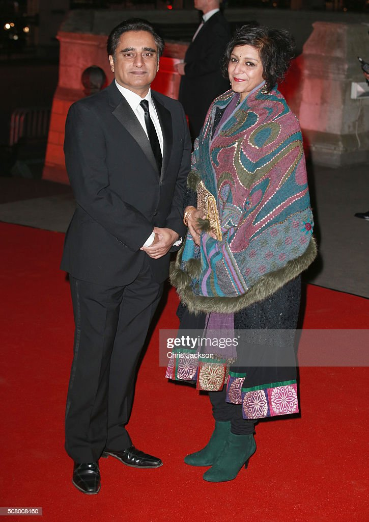 Sanjeev Bhaskar and Meera Syal attend a reception and dinner for supporters of The British Asian Trust at the Natural History Museum on February 2...
