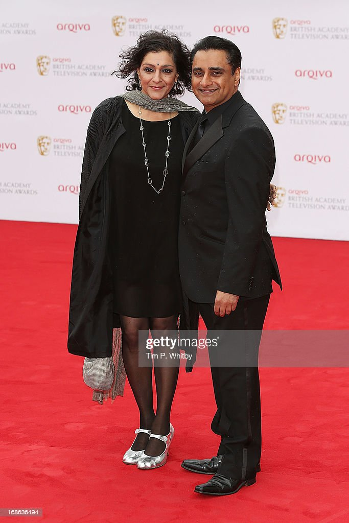 Sanjeev Bhaskar and Meera Syal attend the Arqiva British Academy Television Awards 2013 at the Royal Festival Hall on May 12, 2013 in London, England.