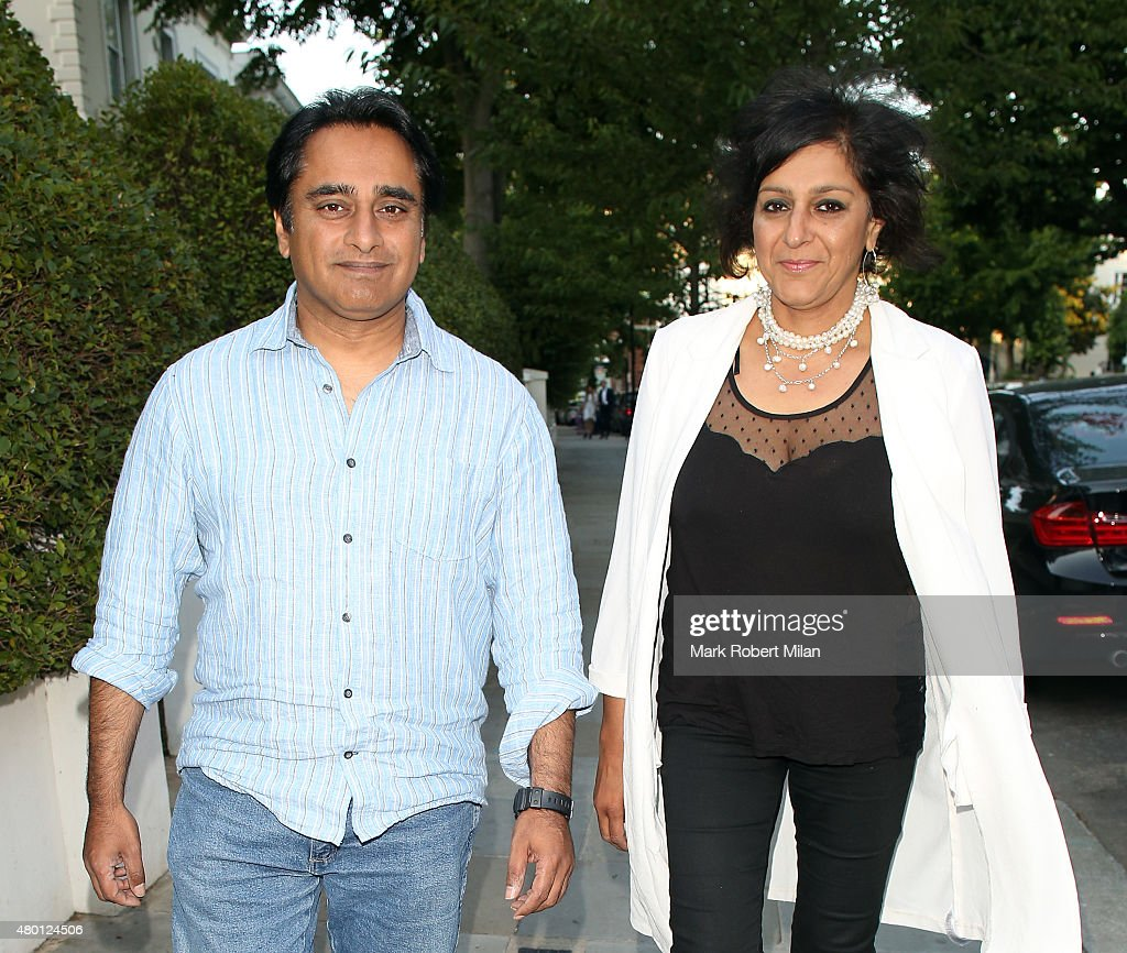 Sanjeev Bhaskar and Meera Syal attending the ITV summer party in Notting Hill on July 9 2015 in London England
