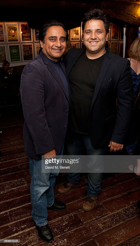 Sanjeev Bhaskar and Nathan Amzi attend the press night performance of 'What's It All About Bacharach Reimagined' at the Menier Chocolate Factory on...