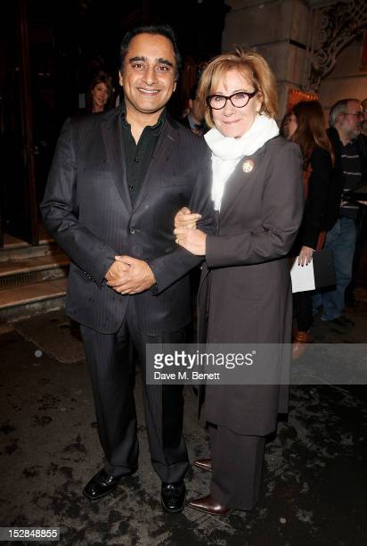 Sanjeev Bhaskar and Zoe Wanamaker arrive for the Press Night performance of the RSC's 'Much Ado About Nothing' at The Noel Coward Theatre on...
