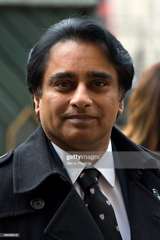 Sanjeev Bhaskar attends a Memorial Service for Sir Richard Attenborough at Westminster Abbey on March 17 2015 in London England