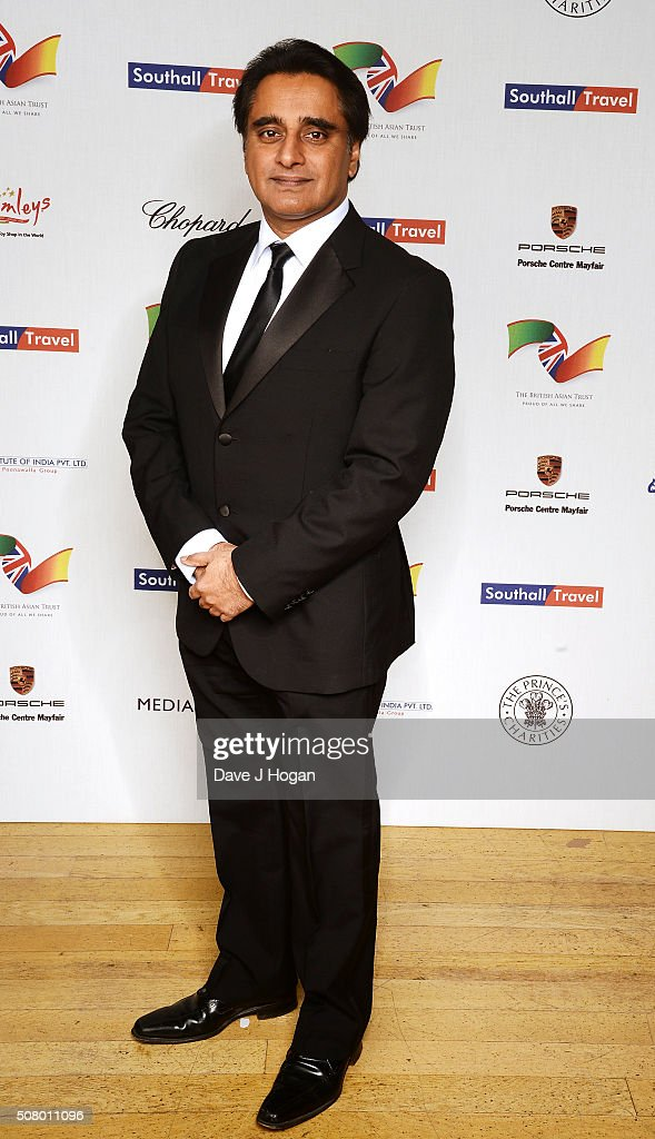 Sanjeev Bhaskar attends a reception and dinner for supporters of The British Asian Trust at Natural History Museum on February 2 2016 in London...