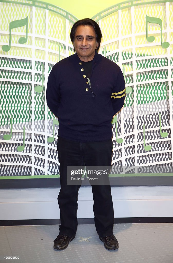 Sanjeev Bhaskar attends the opening of the 'Elvis At The O2' exhibition at The O2 Arena on December 15 2014 in London England