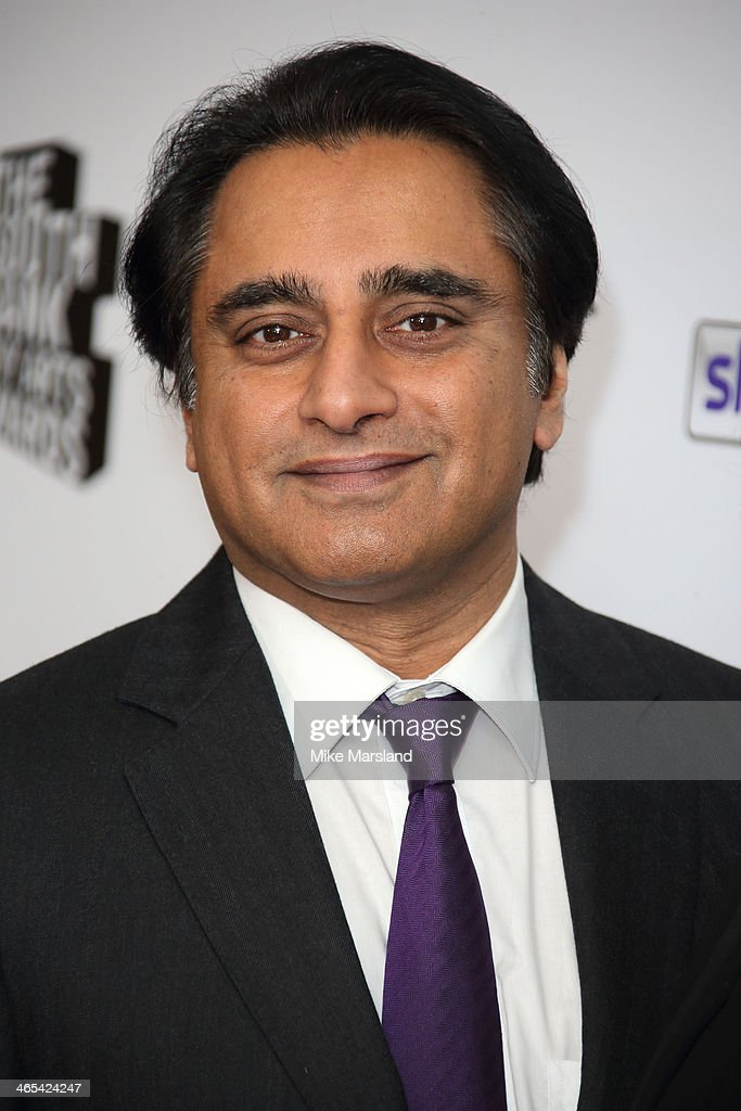 Sanjeev Bhaskar attends the South Bank Sky Arts awards at Dorchester Hotel on January 27 2014 in London England
