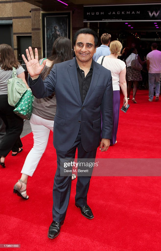 Sanjeev Bhaskar attends the UK Premiere of 'The Wolverine' at Empire Leicester Square on July 16, 2013 in London, England.