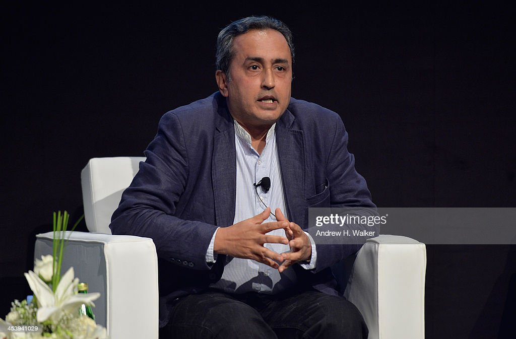 Sanjeev Lamba, CEO of Reliance Entertainment speaks at the Cinematic Innovation Summit ahead of the 10th Annual Dubai International Film Festival at Atlantis, The Palm Hotel on December 6, 2013 in Dubai, United Arab Emirates.
