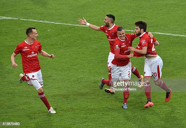 Sanjin Prcic of AC Perugiacelebrates after scoring the opening goal during the Serie B match between AC Perugia and Ternana Calcio at Stadio Renato...