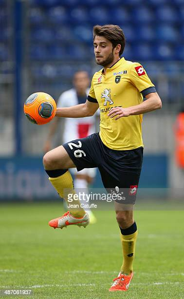 Sanjin Prcic of Sochaux in action during the French Ligue 1 match between FC Sochaux Montbeliard and Paris SaintGermain FC at Stade Bonal on April 27...