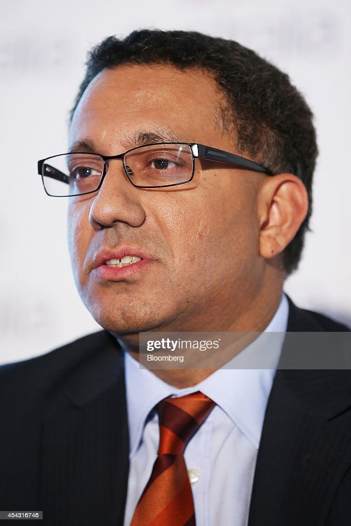 Sankar Narayan chief financial officer of Virgin Australia Holdings Ltd speaks during a news conference in Sydney Australia on Friday Aug 29 2014...