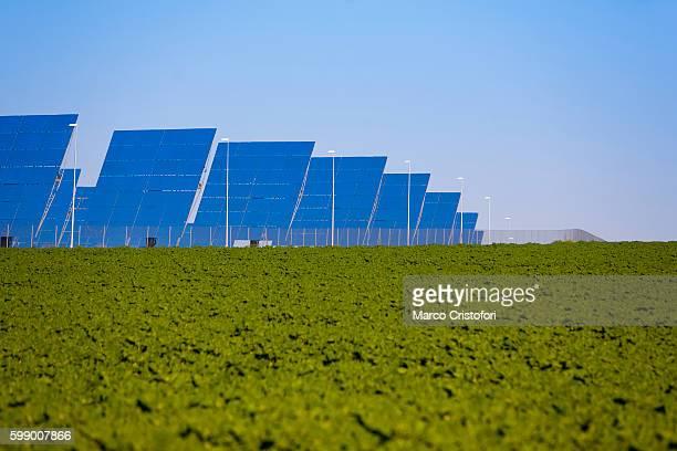 Sanlucar la Mayor, Seville, Spain. Solar thermal power plant