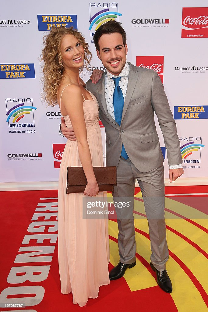 Sanna Aakerstroem and Simon Gincberg attend the Radio Regenbogen Award 2013 at Europapark on April 19, 2013 in Rust, Germany.