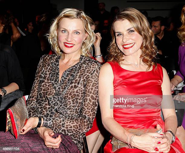 Sanna Englund and Andrea Luedke attend the Audi Fashion Award 2014 on October 09 2014 in Hamburg Germany