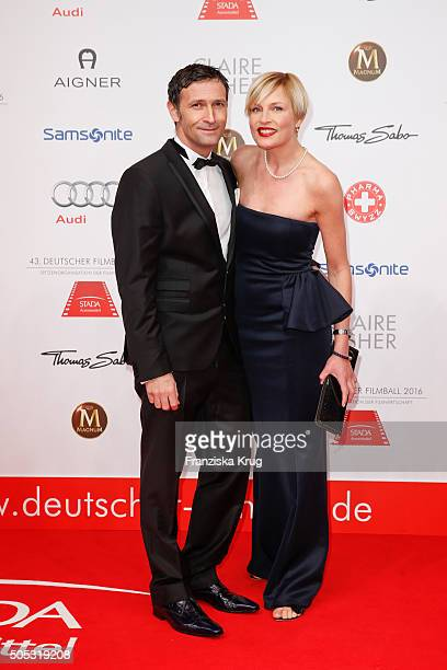 Sanna Englund and guest during the German Film Ball 2016 at Hotel Bayerischer Hof on January 16 2016 in Munich Germany