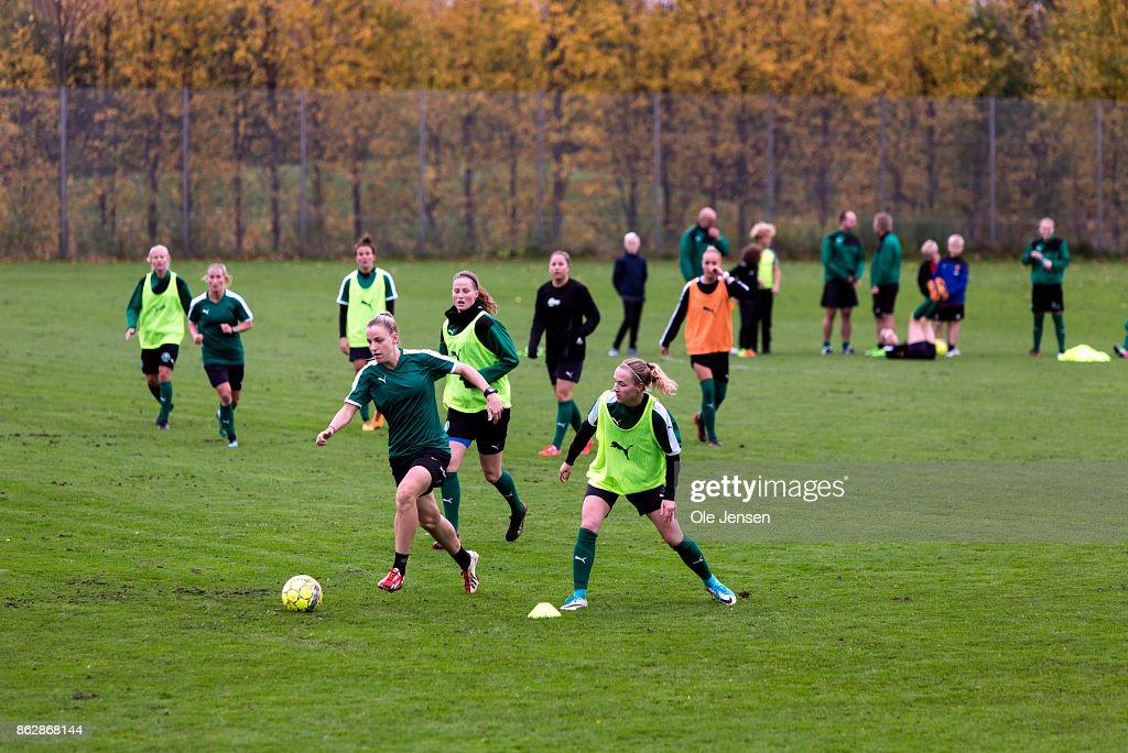Danish National Women's Football Team Training