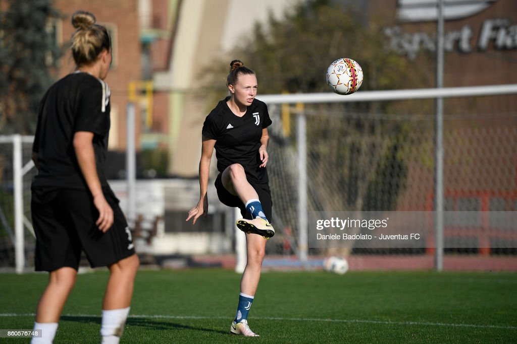 Sanni Maija Franssi during a Juventus Women training session on October 12, 2017 in Turin, Italy.