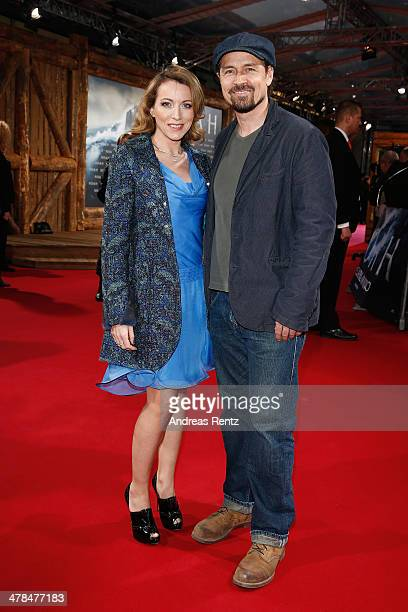 Sanny Van Heteren and Christof Wahl attend the premiere of Paramount Pictures' 'NOAH' at Zoo Palast on March 13 2014 in Berlin Germany