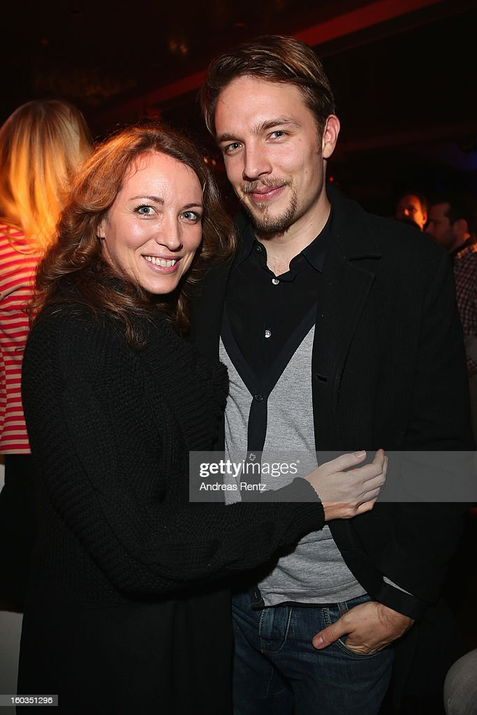 Sanny van Heteren and partner Phil Lovitt attend the after show party to 'Kokowaeaeh 2' - Germany Premiere at Astra on January 29, 2013 in Berlin, Germany.