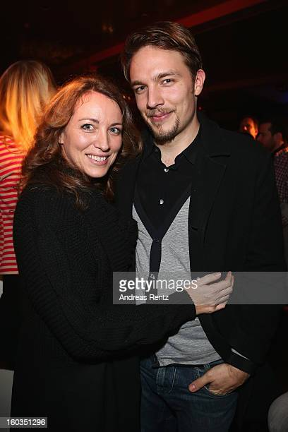 Sanny van Heteren and partner Phil Lovitt attend the after show party to 'Kokowaeaeh 2' Germany Premiere at Astra on January 29 2013 in Berlin Germany