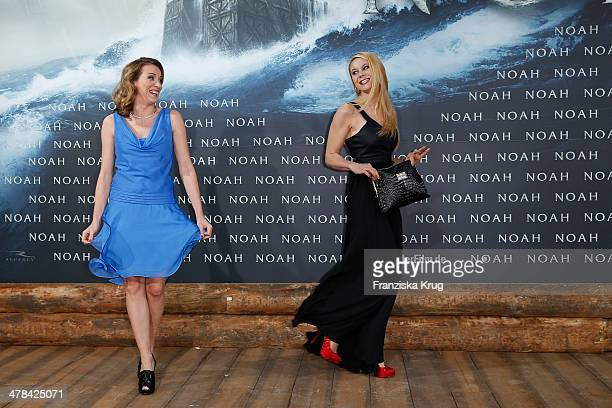 Sanny Van Heteren and Yvonne Woelke attend the 'Noah' Germany Premiere at Zoo Palast on March 13 2014 in Berlin Germany