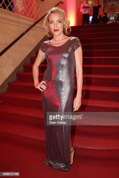 Sanny van Heteren arrives at the GQ Men of the Year Award 2014 at Komische Oper on November 6 2014 in Berlin Germany