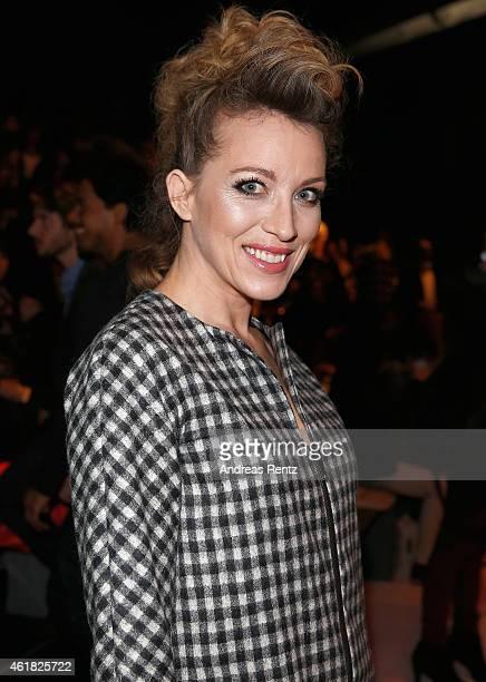 Sanny van Heteren attends the Rebekka Ruetz show during the MercedesBenz Fashion Week Berlin Autumn/Winter 2015/16 at Brandenburg Gate on January 20...