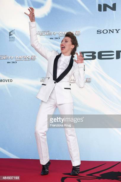 Sanny van Heteren attends the 'The Amazing SpiderMan 2 Rise Of Electro' Berlin Premiere at Sony Center on April 15 2014 in Berlin Germany