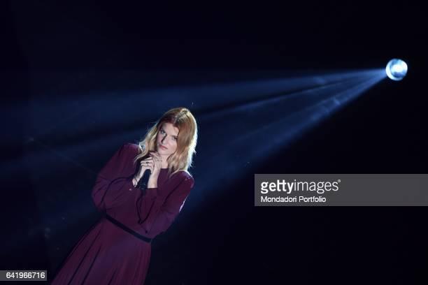 Sanremo Music Festival 4th Night Pictured Chiara Galiazzo Sanremo February 10th 2017