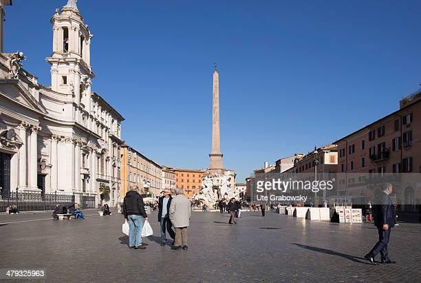 Sant' Agnese in Agone also called Sant' Agnese in Piazza Navona a Baroque church built in the 17th century on February 07 2014 in Rome Italy