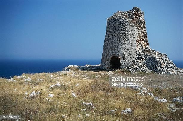 Sant 'Emiliano Tower 15th century near Otranto Salento Peninsula Apulia Italy