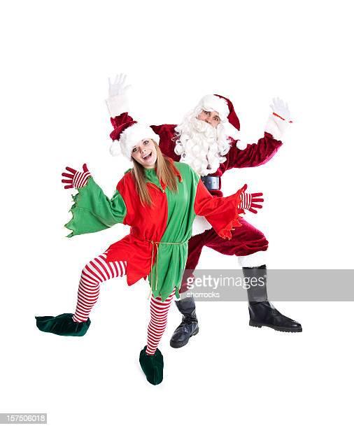 Santa and Elf Dancing (Full Length)